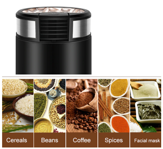 Mini Electric Stainless Steel Coffee Grinder
