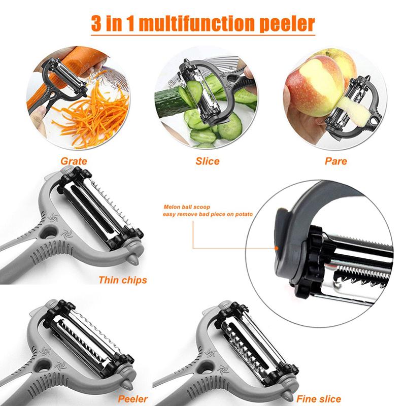 3 In 1 Fruit Vegetable Peeler