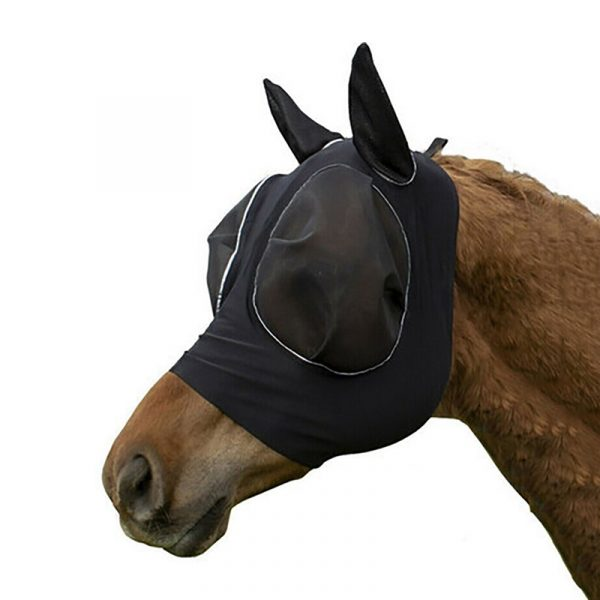 black anti fly mesh mosquito equine Horse Protective Mask