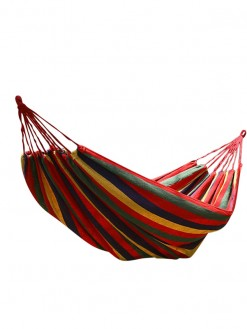Two person Camping Outdoor yard striped hanging Hammock