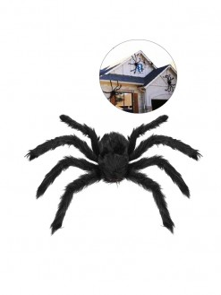 Black Haunted House Outdoor Spider Halloween Decoration