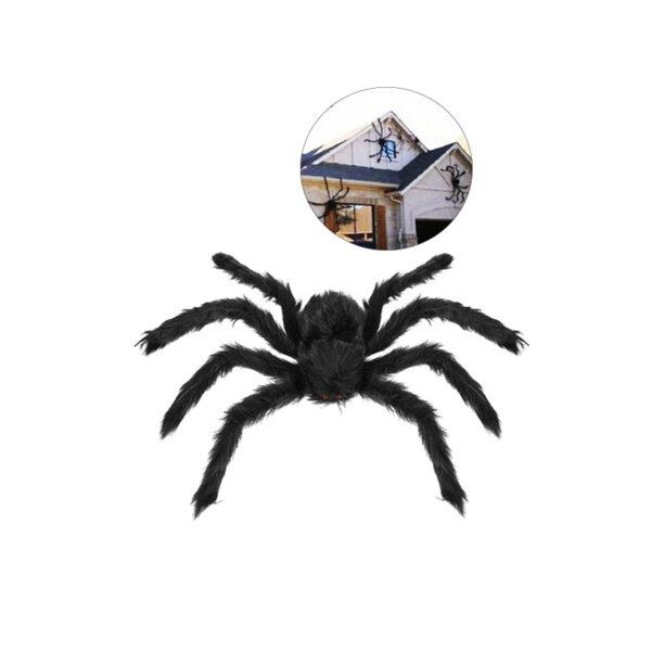 Black Haunted House Outdoor Spider Halloween Decoration