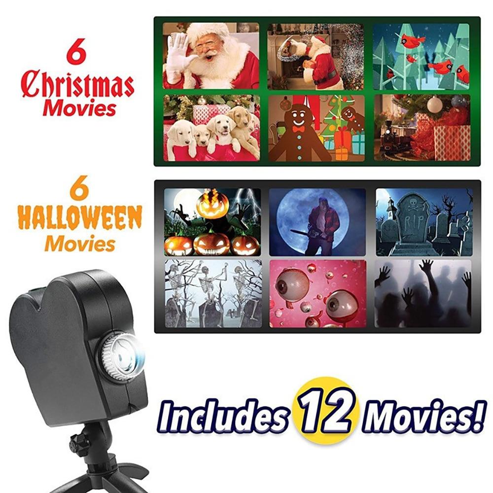 Halloween & Christmas Window Wonderland projector