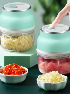 USB Electric Mini Garlic Masher Vegetable Chopper Grinder