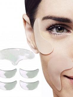 5pcs Set Eye Face Anti Winkle Chin Forehead Skin Care Silicone Gel Pad Set