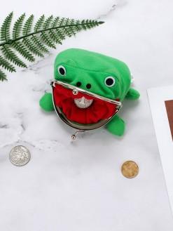 Anime Naruto Green Cartoon Frog Wallet Coin Purse Bag