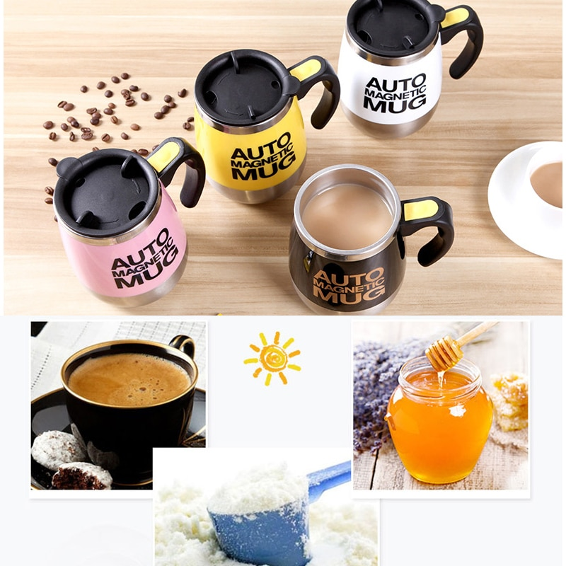 Stainless Steel Magnetic Mixing Mug