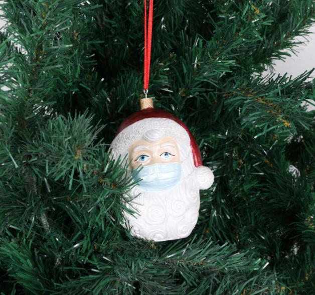 Santa Claus Face Mask Decoration Ornament