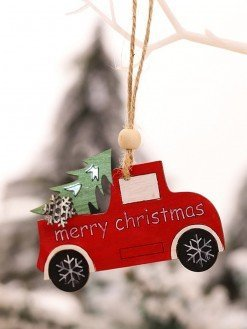 Wooden haning Christmas Ornament for Cars christmas tree decor
