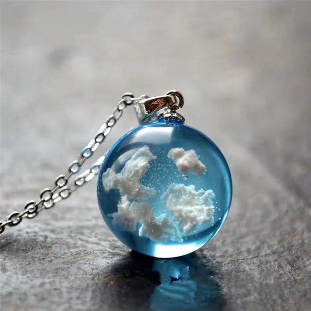 Blue Sky White Cloud Necklace