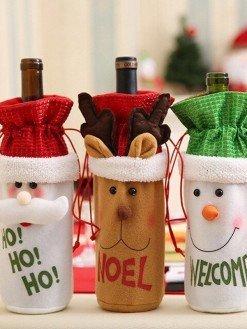 Christmas Wine Bootle Decor set