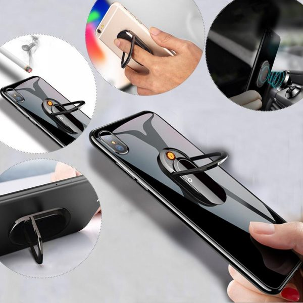 Creative Phone USB Cigarette Lighter Mobile Phone Stand Ring Holder