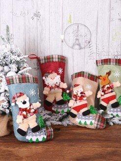 New Year Christmas Stocking Tree Decorations
