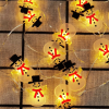 Christmas Santa Claus Snowflake Tree LED Lights String Decoration