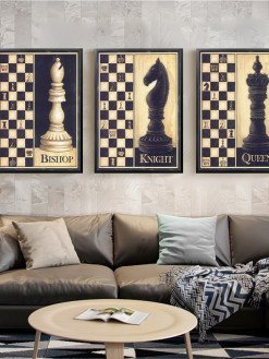 Chess Wall Painting Art Poster