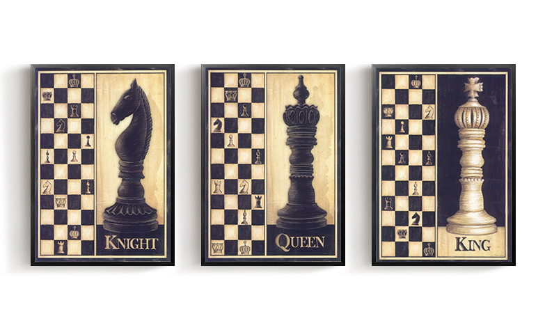Chess Wall Painting Poster