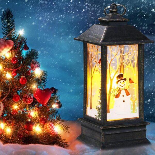 Christmas Lantern Hanging Candle Holder Decorations