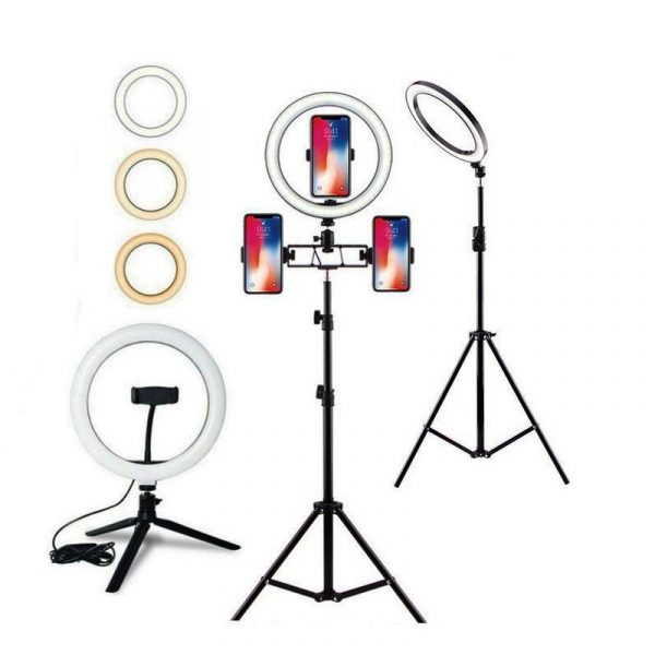 USB LED Selfie Ring Lights with tripod stand