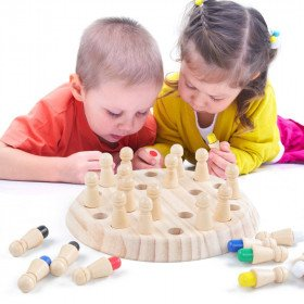 Wooden Memory Matchstick Chess Game