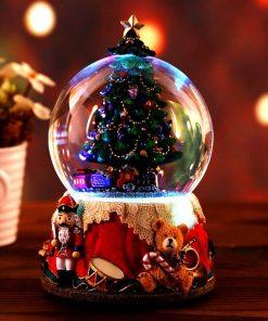 Christmas Rotatable Music Box Crystal Ball Globes