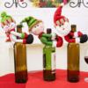Christmas Santa Claus Snowman Wine Bottle Cover Decors