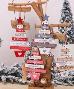 Christmas Tree wooden Pendants