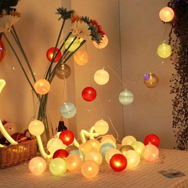 Noel Christmas Ball String Lights