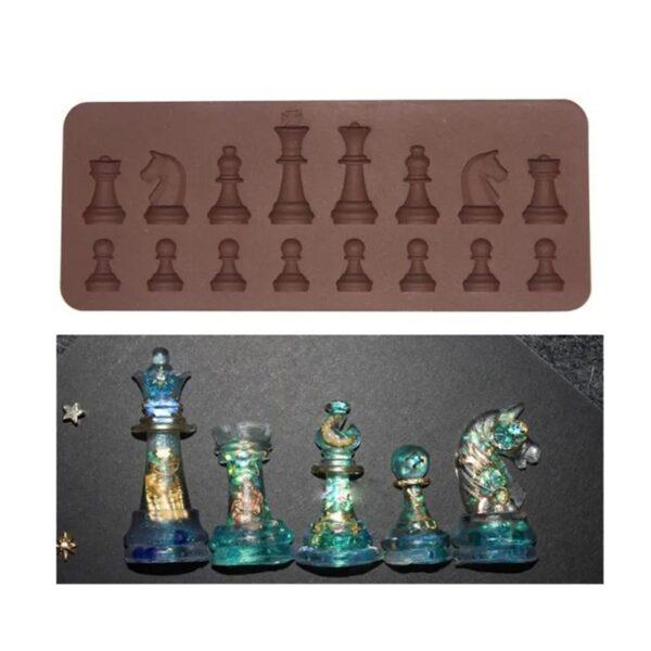 Chess Chocolate Silicone Baking Cake Mold