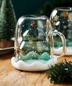 Glass Christmas Mug