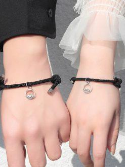 Attract Couples Best Friend Rope weaving Magnet Bracelets