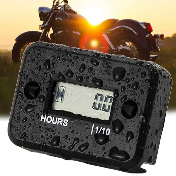 Motorcycle Digital Battery Timer Meter Counter