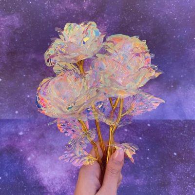 Foil Plated Rose Flower