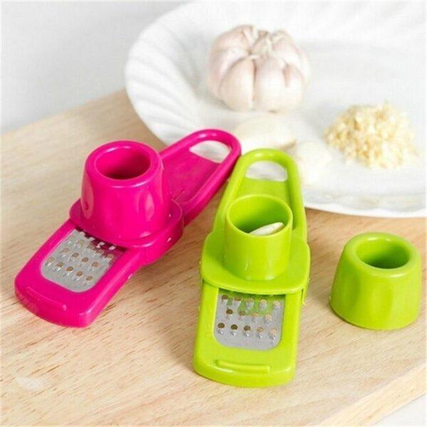 Garlic Presser Grinder Cutter