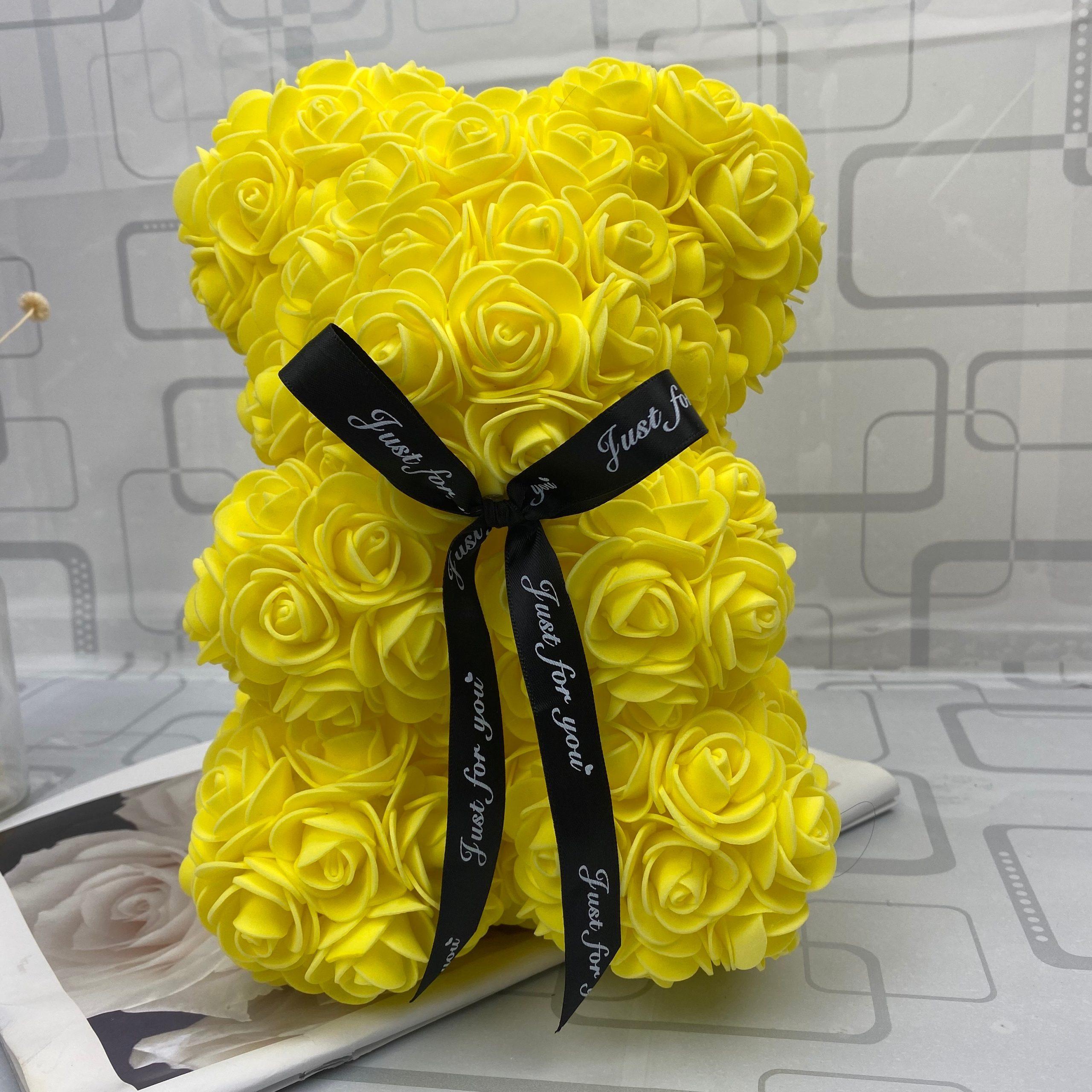 Rose Flower Teddy Bear