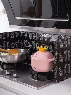 Aluminum Gas Stove Baffle Plate frying pan protection screen