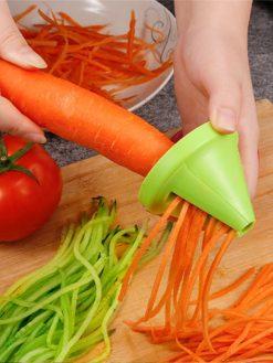 Manual Vegetable Fruit Spiral Shredder Slicers Manual Peeler