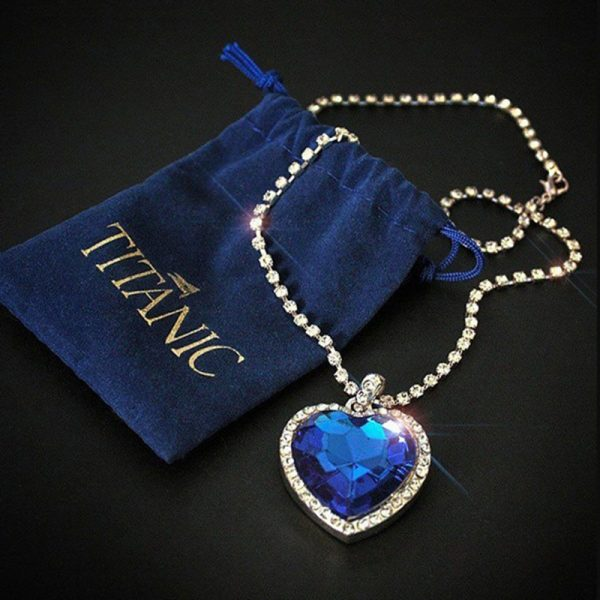 Kate Winslet Titanic Royal Blue Heart of Ocean Necklace