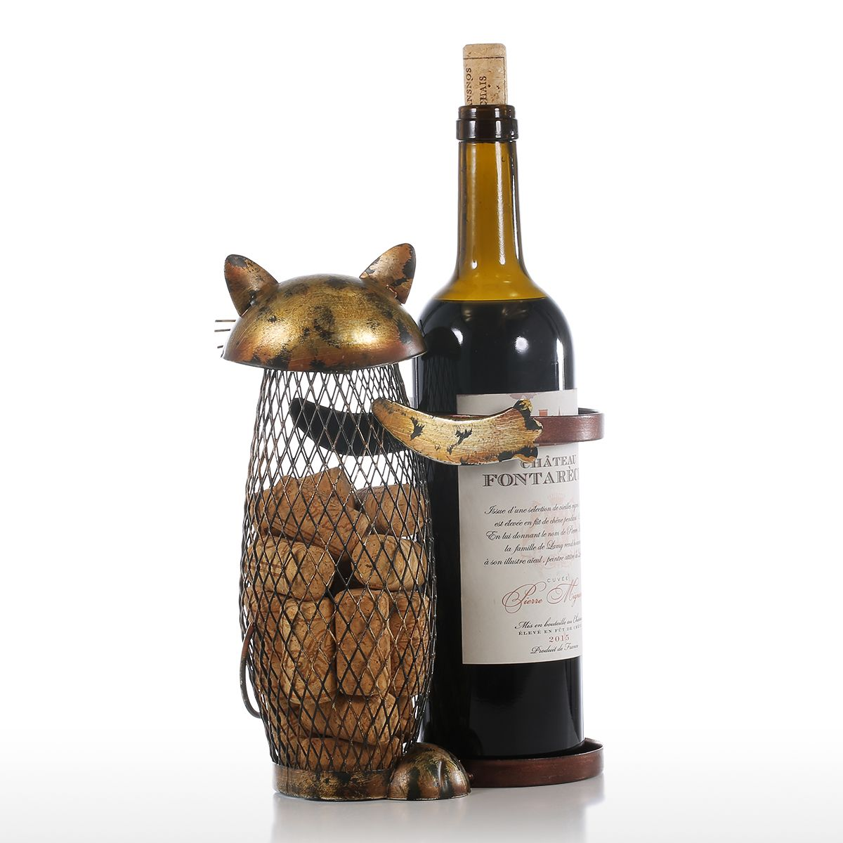 Cat Wine Rack Stand