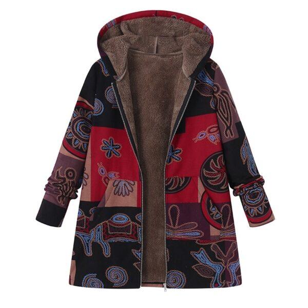 Casual Warm Winter Hooded Long Sleeve Fluffy Coat