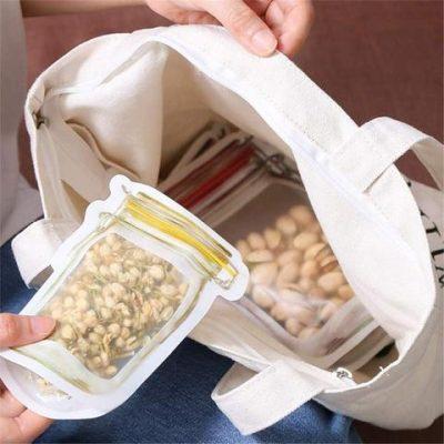 Reusable Mason Bottle Ziplock Bag