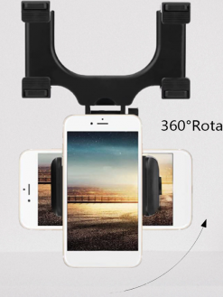 Rear View Mirror Car Mount Phone Holder