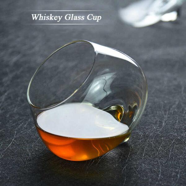 Transparent Rotating Whiskey Glass