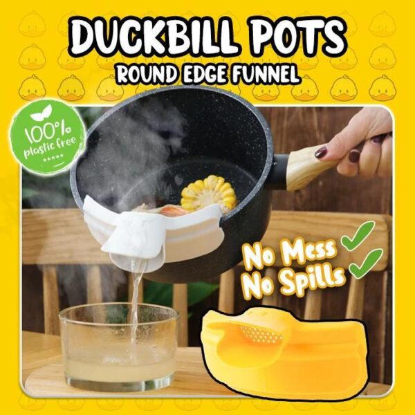 Duckbill Pot Strainer Round Edge Funnel