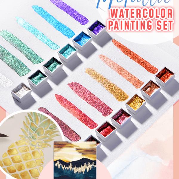 Metallic Watercolor Painting Set