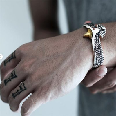 Silver Eagle Cuff Bracelet