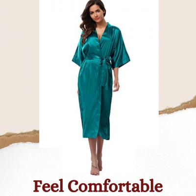 Silk Satin Long Robe