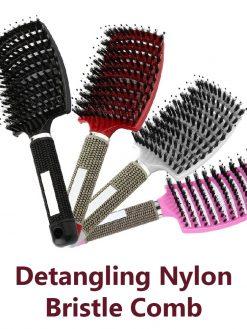 Detangling Nylon Bristle Comb