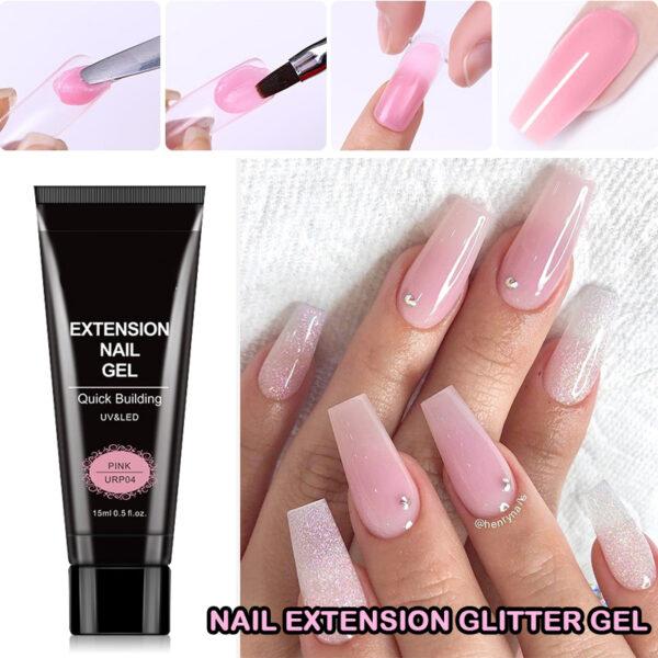 Nail Extension Glitter Gel