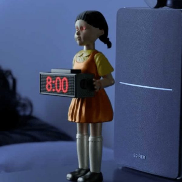 Squid Game Automatically Fire Bullets Doll Alarm Clock