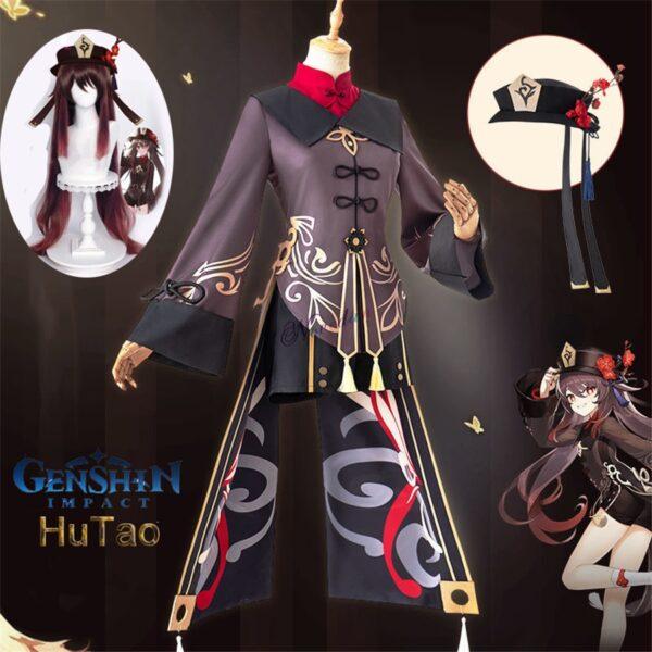 Genshin Impact Hutao Halloween Anime Costume